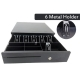 Heavy Duty Cash Drawer LAS405 with Metal Keylock RJ11 6 Bill 4 Coin
