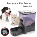 Pet Automatic Food Dispenser Large Pet Feeder Programmable 10L -Black