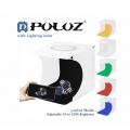 PULUZ 20CM Folding Portable Light Box 6 Colors Backdrops - LED Ring