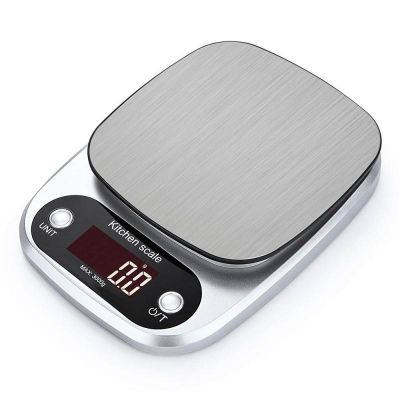 3KG / 0,1 Kitchen Digital Food Stainless Steel Scale Multi function