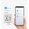 Smart Life Wall Smart Power Socket with Wifi Control USB QC3