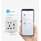 Smart Life Wall Smart Power Socket with Wifi Control USB QC3