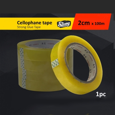 OPP Yellow Transparent Packing Cellophane Tape 2 cm