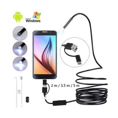 3 in 1 USB Type-C Endoscope 5.5 Lens HD Camera IP67