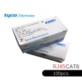 Amp Tyco RJ45 Connector Network for Cat6 (100 piece)