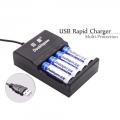 4 slots Doublepow DP-UK83 USB LED Indiacator Intelligent Fast Charger