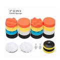 "22pcs 3 Inch 3"" Car Polishing Polish Waxing Wax Sponge Pad Kit"