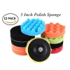 "12pcs 5"" Inch Car Polishing Polish Waxing Wax Sponge Pad Kit"