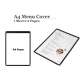 A4 Restaurant Transparent Menu Cover 1 Sleeve Pocket Sheet 2  Pages