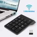 2.4G Wireless USB Numeric Keypad Mini Numpad 18 Keys Digital Keyboard