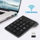 2.4G Wireless USB Numeric Keypad Mini Numpad 18 Keys Digital Keyboard