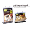 A6 Paper Table Menu Stand with 6 Sleeves Vertical Horizontal