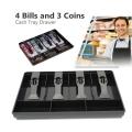 Cash Drawer Insert Tray Replacement 4 Bills 3 Coins Money Storage Box