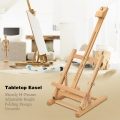 Adjustable Table Top H-frame Wood Easel Art Drawing Artwork Display