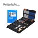 HB H&B 71pcs Set Professional Drawing Sketch Color Pencil Kit