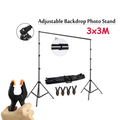 Backdrop Photo Studio 3M x 3M Heavy Duty Portable Adjustable Stand