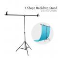 Portable Photo Studio Background Backdrop T Stand Kit 150x200cm