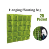 Wall Hanging Planting Bags 25 Pocket Green Grow Bag Planter