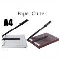 """Heavy Duty A4 Paper Cutter Metal / Wood Base 10"""" x 12"""""""