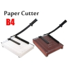 "Heavy Duty B4 Paper Cutter Wood / Metal Base 12"" x 15"""