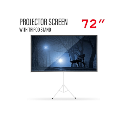 72 inch Projector Screen Portable Foldable with Tripod Stand 4:3