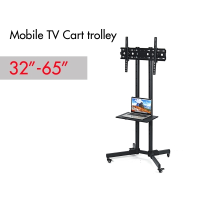 New Adjustable Mobile TV STAND CART-1500 Trolley for 32 to 65inch