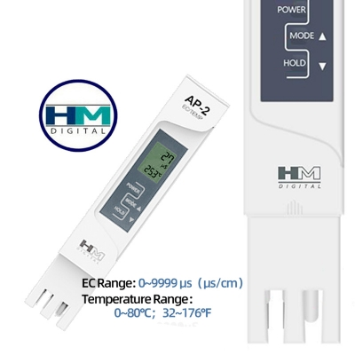 Aquapro HM Digital AP2 Water Quality EC Meter Hydroponics Tester