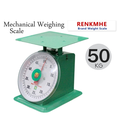 RENKHME 50kg Weight Scale Heavy Duty Commercial Mechanical Flat Plate