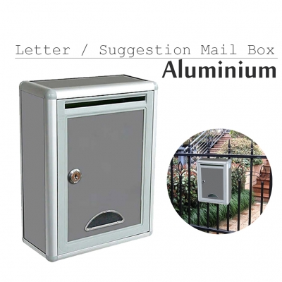 Mail Letter Post Suggestion Box Aluminum Wall Mounted Lockable Window