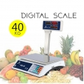 40Kg Platform Digital Weight Scale Pole Computing Vege Fruits ACS 40