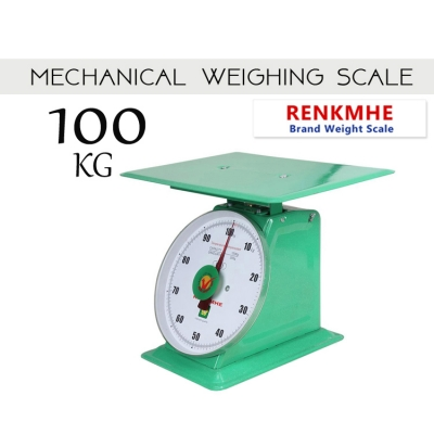 RENKHME 100kg Weight Scale Heavy Duty Commercial Mechanical Flat Plate