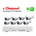 8CH HD 720P 1MP Wireless WIFI CCTV IP Camera Kits - Plug & Play