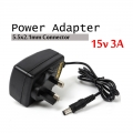 15V 3A Power Supply Adapter CCTV  AC to DC 5.5 x 2.5 mm
