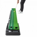Golf Putter Trainer Putting Training Practice Grass Mat Indoor