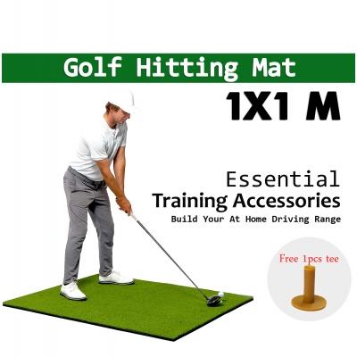 1x1M 10mm Indoor Golf Practice Grass Mat Training Hitting Pad Golf Mat