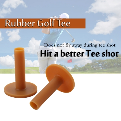 70mm Rubber Golf Tee Holder 70mm for Practice and Driving Range Mats