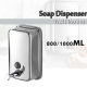 Wall Mounted Stainless Steel Hand Wash Liquid Soap Dispenser