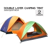 Double Layer Camping Tent Outdoor 1-2 Person Hiking Door