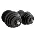 Rubber Black Dumbbell Fitness GYM Dumbell Exercise 30kg