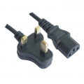 3 Pin UK Plug To Desktop PC/CPU Power Cord Supply Cable 1.5m
