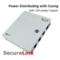 Power Supply Metal Casing Distributor switching 8 Channel CCTV DC 12V