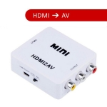 HDMI to AV Converter Adapter Video Audio (Black color)