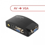 AV to VGA Converter Video TV to PC Signal Adapter Switch Box