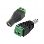 CCTV DC POWER Connector Plug MALE FEMALE / Easy Connect to Cable
