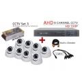 8 Channel CCTV AHD + DVR + NVR CCTV P2P Network HD Recorder 1080N