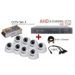 8 Channel CCTV AHD + DVR + NVR CCTV P2P Network HD Recorder
