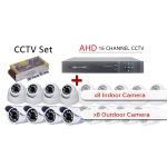 3 in 1 Latest 16 Channel AHD + DVR + NVR CCTV P2P Network HD Recorder