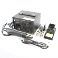 SAIKE 852D++ Digital Soldering Iron Hot Air Gun Rework Station
