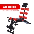 Gym AB Six Pack Exercise Chair Bench fitness equipment (Red Color)