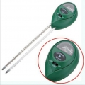3 in 1 Soil Light Moisture PH Tester Meter (Round)